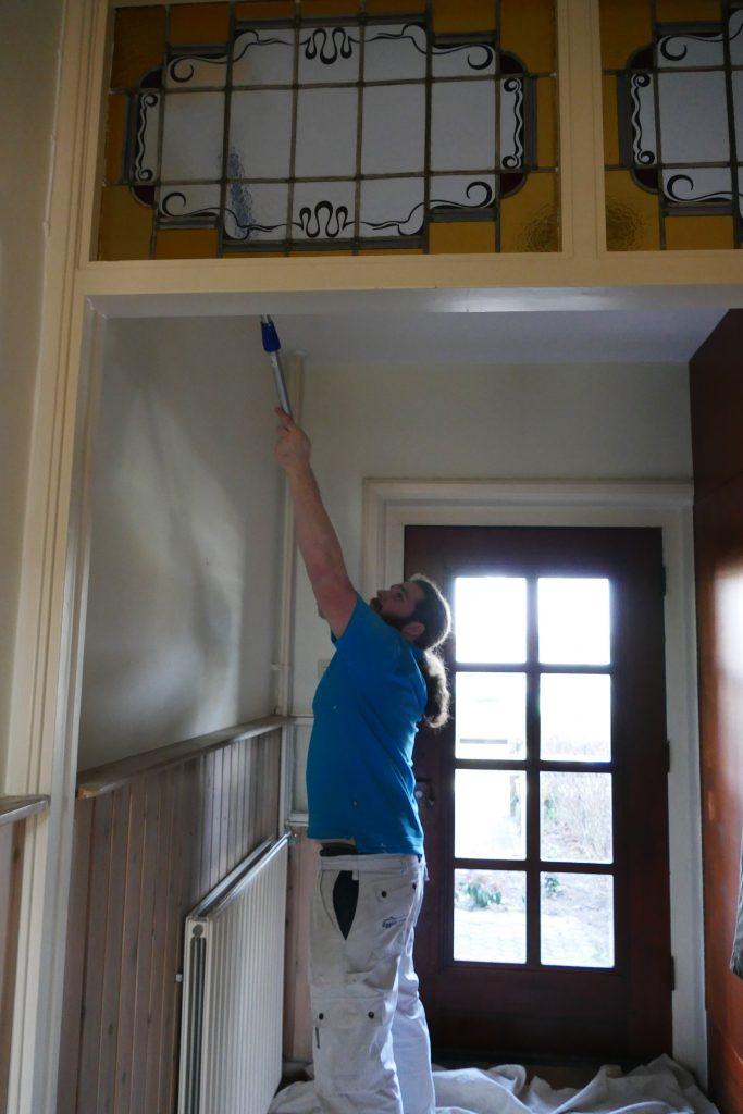 Nu in uitvoering: Binnenschilderwerkzaamheden aan de van Dortstraat te Haarlem